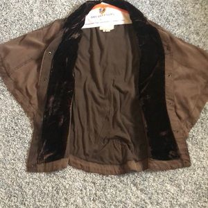 Anthropologie Jackets & Coats - Velvet poncho jacket
